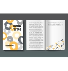 Book design template vector