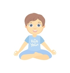 Boy Sitting In Lotus Pose vector