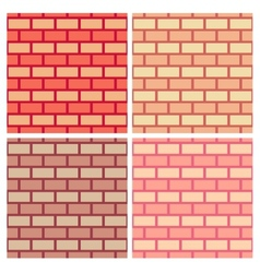 Brickwork seamless pattern collection vector
