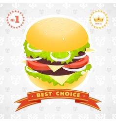 Burger royal vector