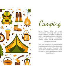 camping banner template with space for text vector image