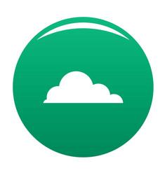 Cirrus cumulus icon green vector