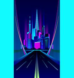 City night bridge vector