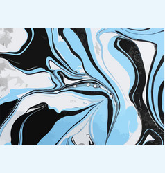 Colorful ink mixture swirl vector