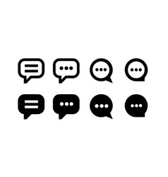 concept of talk bubble icon vector image