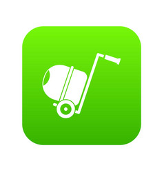 concrete mixer icon digital green vector image