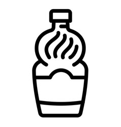 Cooking vinegar icon outline style vector