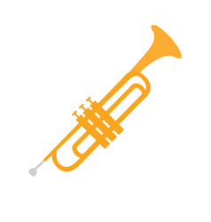 cornet part of musical instruments set of vector image