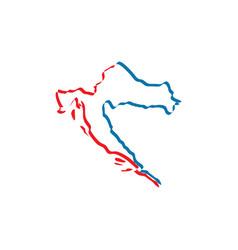 Croatia map icon symbol vector