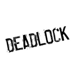 Deadlock rubber stamp vector