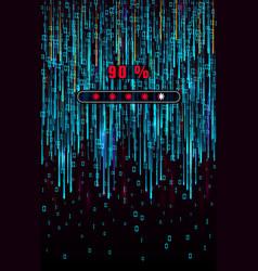 digital binary code matrix background falling vector image