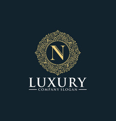 elegant luxury logos vector image