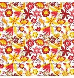 Excellent seamless pattern with with poppies and vector image vector image
