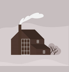 facade town house or cottage in scandic style vector image