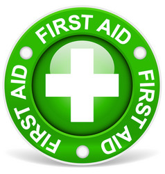 First aid green vector