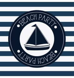 Flat about sailboat design vector