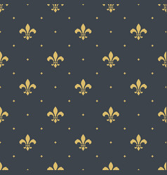 Fleur-de-lis seamless pattern background vector