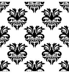 Floral damask style seamless pattern vector image