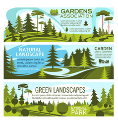Green landscape design and gardening service vector