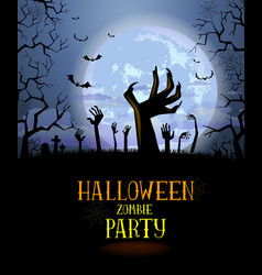 halloween background for a poster vector image
