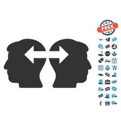 Heads Exchange Arrows Icon With Free Bonus vector