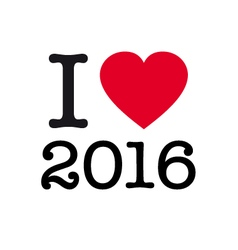 i love 2016 vector image