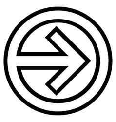 Import Thin Line Icon vector