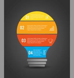 Infographic business plan report with lorem ipsum vector