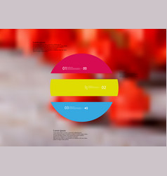 Infographic template with circle horizontally vector