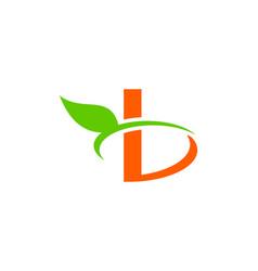 letter b leaf logo vector image