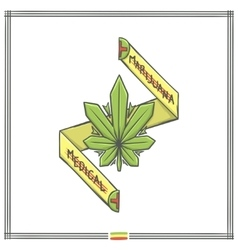 Medica Marijuana Logo One vector