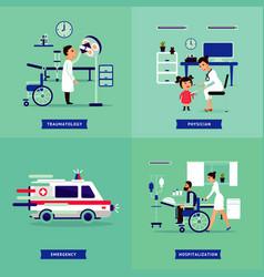 Medical treatment concept vector
