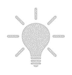 mesh light bulb icon vector image