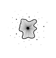 mystical flowers with stars mystic alchemy vector image