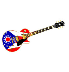 ohio state flag guitar vector image