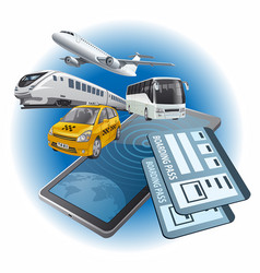 online service tickets vector image
