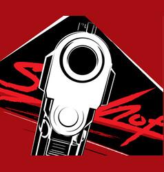 Pistol criminal arm pistol vector