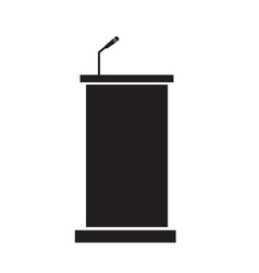 podium icon on white background podium sign vector image