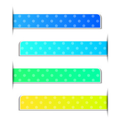 Polka dots on four different color background vector