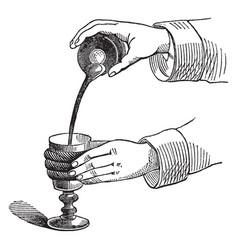 Pouring mercury vintage vector