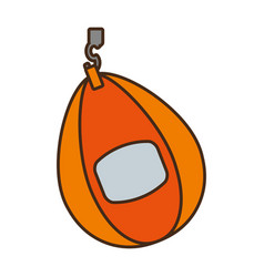 punching bag isolated icon vector image