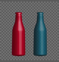 realistic mock up bottle vector image