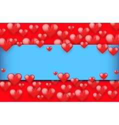 Realistic Red Romantic Hearts Background vector