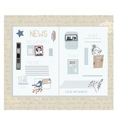 Retro newspaper design elements - funny vector