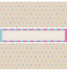 Retro polka dot with banner vector