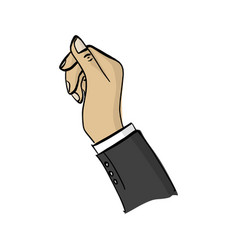 right hand of businessman sketch vector image