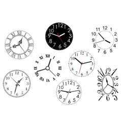 Set clock dials vector
