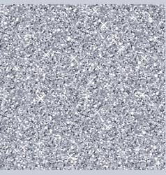 Silver glitter texture seamless pattern vector