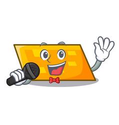 singing parallelogram mascot cartoon style vector image