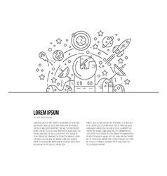 Space Line Concept vector